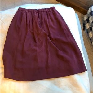 Beautiful Maroon silk skirt!